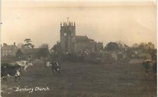 Bunbury near Tarporley. Church & Cattle by A.E.Adams, Bunbury.