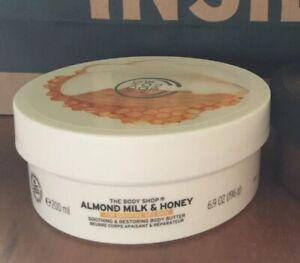 The Body Shop Almond Milk Body Butter 200ml Brand New