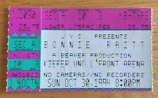 Bonnie Raitt Concert Ticket Stub Kiefer UNO Arena New Orleans LA 10/30/1994