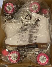 New listing Nib Chicago Roller Skates, Quad Skates, Size 8 White/Pink Brand New In Box