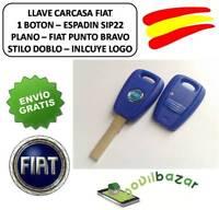 LLAVE CARCASA FIAT PUNTO DOBLO BRAVO STILO MAREA BOTON MANDO SIP22 PLANO ESPAÑA