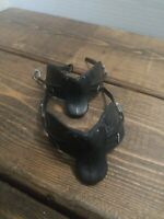 Vintage Breyer Horse Saddles Set of 2 English Plastic Black Replacements EUC