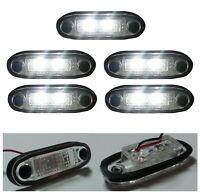 5x Flush Fit White Front Side 2 Led Marker Lights Lamps For Tuck Chassis 24 Volt