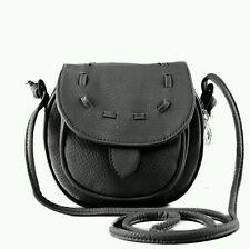 New Cute Girl Black Pu Mini Small Adjustable Shoulder Bag Handbag Fashion Style