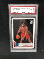 COBY WHITE 2019 PANINI DONRUSS OPTIC #180 RATED ROOKIE PSA 10 GEM MINT RC H93