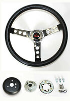 1964-1966 Nova Chevelle Impala GRANT Black Steering Wheel 13 1/2 Red/Blk