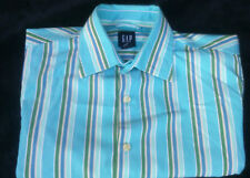 "Mens Gap aqua blue long sleeve shirt - 100% cotton - 40"" chest"