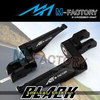 Shinobi Black Adjustable Front Footpegs 25mm for Triumph Trophy 1200 93 94-03