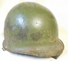 U.S. WWII M1 Helmet w/ Front Seam & Swivel Bales