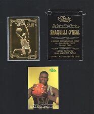 SHAQUILLE O'NEAL 1994 Classic 23 Kt Gold Card -  #d / 10,000 in box w/ COA SHAQ