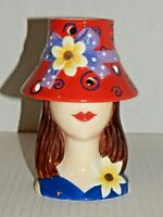 Home Interiors HOMCO - Madeline Tea Light Holder Burner - Lady with Hat - NEW