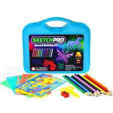 55-PC Stencil Drawing Kit w/ Case - FULL Set of Drawing Stencils for Kids Art -