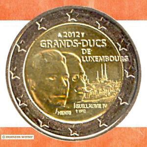 Sondermünzen Luxemburg: 2 Euro Münze 2012 Wilhelm IV Sondermünze Gedenkmünze