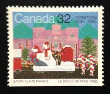 Canada #1070 Bottom MNH, Christmas - Santa Claus Parade Stamp 1985