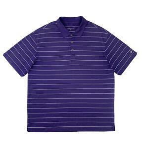 Nike Golf Polo Shirt Men's XL Purple Short Sleeve Dri Fit Button Up