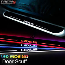 2x LED Moving Welcome Light Door Sill Scuff Plate Pedal For Lexus IS250 350 13-