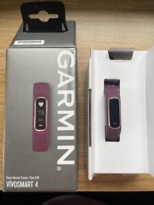 Garmin Vivosmart 4 Fitness Activity Tracker, Small/Medium - Merlot/Rose Gold...