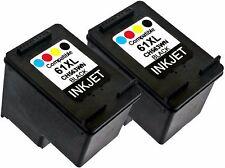 2PK For HP 61XL HP61XL CH563WN Black New Gen Deskjet 3054A 3056 3510 3511 3512