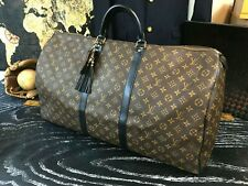 LOUIS VUITTON France XL Custom Leather Luggage Duffle Carry On Bag Suitcase