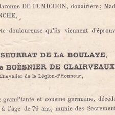 Marie Eudoxie Seurrat De La Boulaye Boesnier De Clairveaux 1882