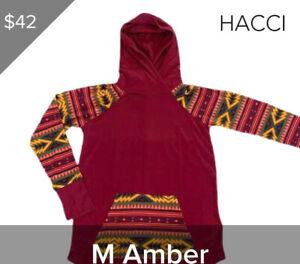 Medium M Lularoe Amber Hoodie Aztec