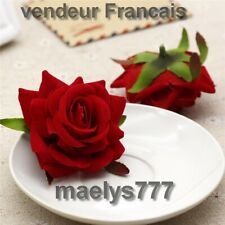 Tête de rose fleur artificielle décoration mariage gâteau art floral 10pcs Rouge