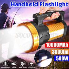 10000MAh 500W Portable Super Bright Spotlight Searchlight Work Light Torch Lamp