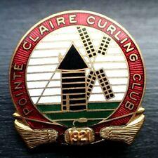 Rare Curling Pin - 1921 Porte Claire Curling Club