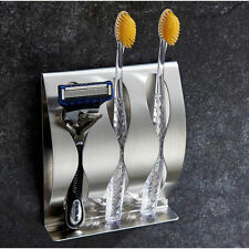 3M Polished Stainless Steel Self-Adhesive Wall Mount Toothbrush Holder 7733