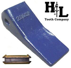 230CSP H&L Tooth Co. 23 230 Backhoe Bucket Teeth + Pin Deere Case JCB 230SP Cast