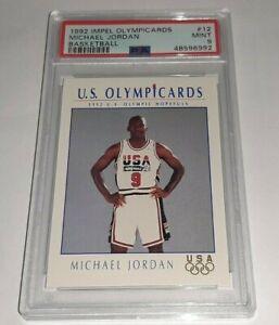 1992 Impel Olympicards #12 Michael Jordan Graded PSA 9 Mint Dream Team USA