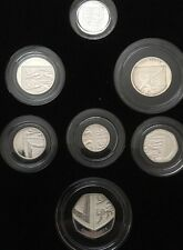 2008 United Kingdom Coinage Royal Shield Of Arms Silver Piedfort Collection