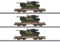 Marklin 48795 HO Gauge DSB Kbs Military Transport Wagon Set (3) V