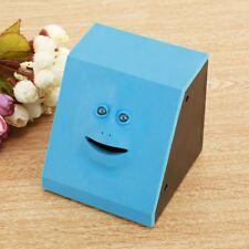Blue Funny Sensor Saving Bank Face Eating Money Coin Box Bank For Kids Gifts