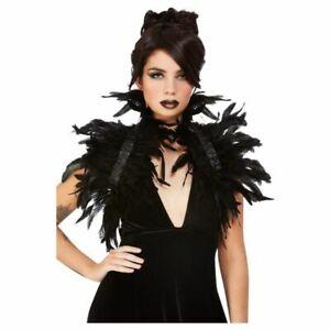 Feder Bolero mit Kragen und Schleife | Kostümbolero Halloween Verkleidung