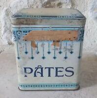 Vintage french tin box advertising Pasta France ad metal