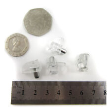CLEAR TRANSPARENT SHELF SUPPORT FIXINGS PEGS STUDS CABINET PUSH IN PINS H713