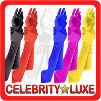 New Ladies Long Satin Look Gloves Opera Costume Bridal Party Wedding 20s Flapper