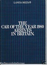 LANCIA Delta 1300 1500 Coche del Año 1980 gran folleto excelente inglés