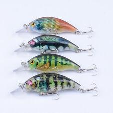 New 4pcs Lot Wobbler Fishing lures Crank Bait 7.5cm/8.4g Crankbait Hooks Tackle
