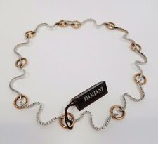 Damiani Brezza Choker 18k White/Rose Gold Diamonds Ladies Necklace MSRP $18,900