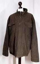 Fácil De Hombre Abrigo De Invierno Marrón, Piel Forrada de gran tamaño. Gratis Reino Unido P&p