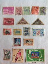 Lot of 17 Latin America stamps~1892-1974~airmail~Costa Rica~Inini~Guatemala~bird