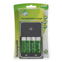 AA Or AAA Over Night Battery Charger 2000 mah Rechargeable Batteries High Power