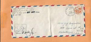 Guerra Mundial II U.S Militar Cubierta Apo 466/629 1944 US Ejército Censurado