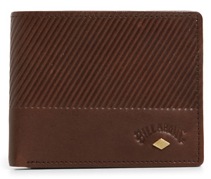 Men's Billabong Helmsman RFID Java Leather Flip Wallet. RRP $55.99. NWT.