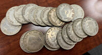 1944 Canadian Half Dollar 50c Silver Coin Roll Of 19 Coins! Free Shipping!