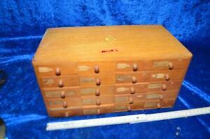 Alter Uhrmacher Schubladenkasten mit Inhalt aus Uhrmachernachlass 1nsa3