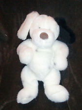 "GUND STUFFED PLUSH PUPPY DOG DALMATIAN DALMATION WHITE BLACK RED COLLAR 17"" DOTS"
