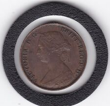 1861    Queen  Victoria   Half  Penny  Bronze  Coin